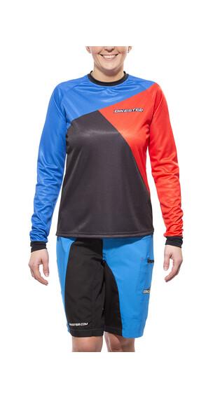 Bikester Gravity Koszulka kolarska Kobiety zestaw czerwony/niebieski